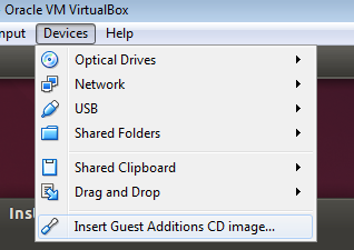 VirtualBox Guest additions disc